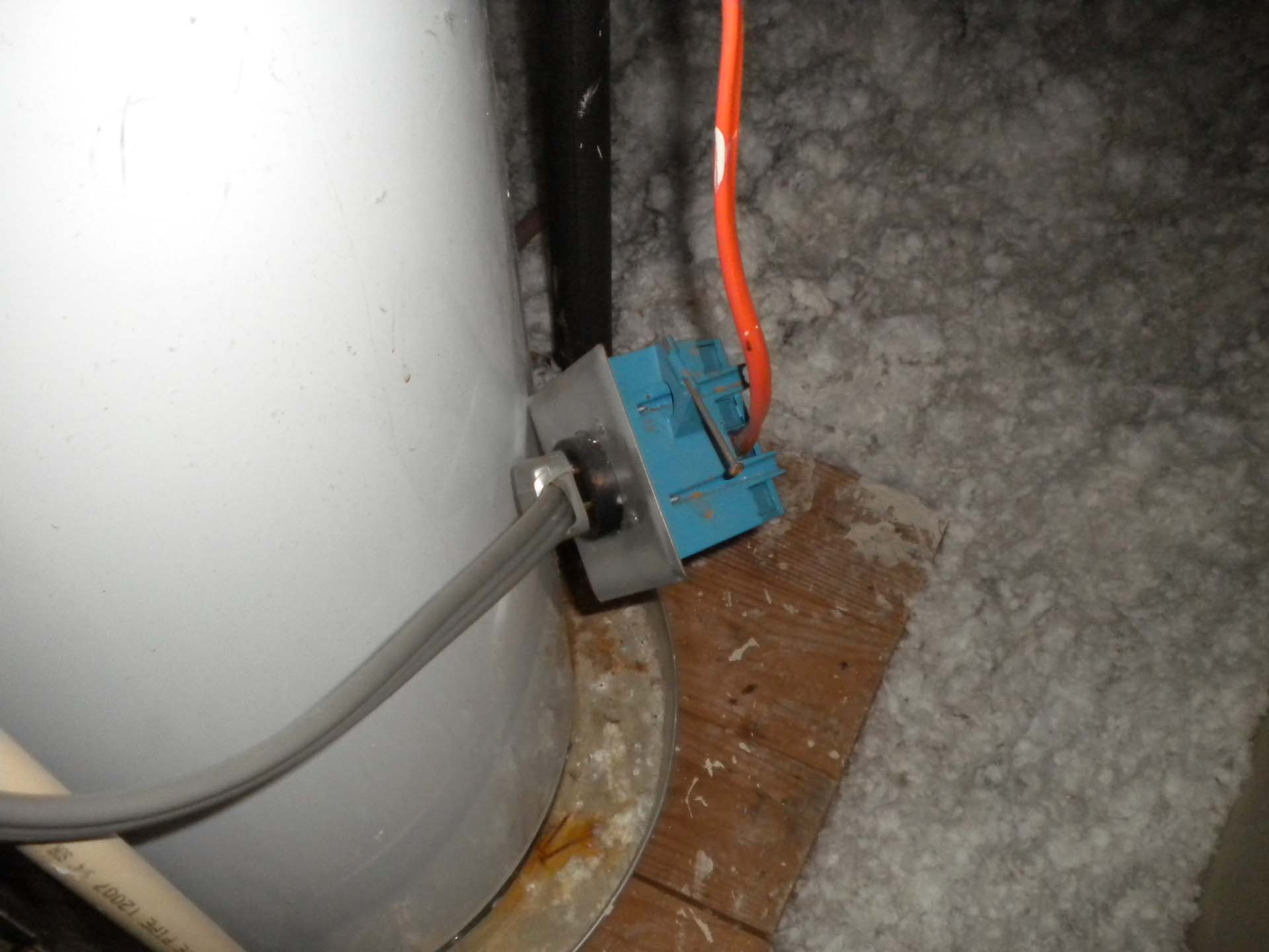 unsecured electrical outlet